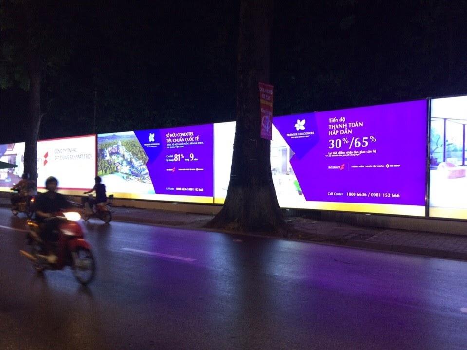 làm pano hàng rào ở COCOBAY Đà Nẵng