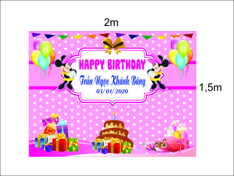 Mẫu băng rôn sinh nhật tại Đà Nẵng