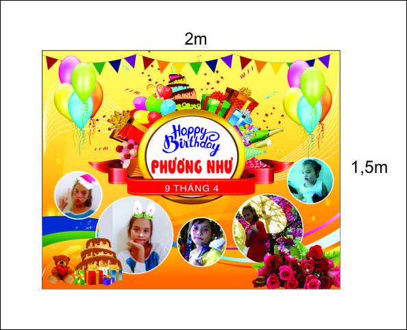 mẫu in bạt phông sinh nhật ở Đà Nẵng