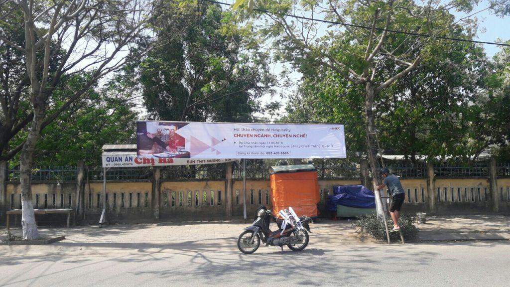 in băng rôn spa đẹp tại Đà Nẵng