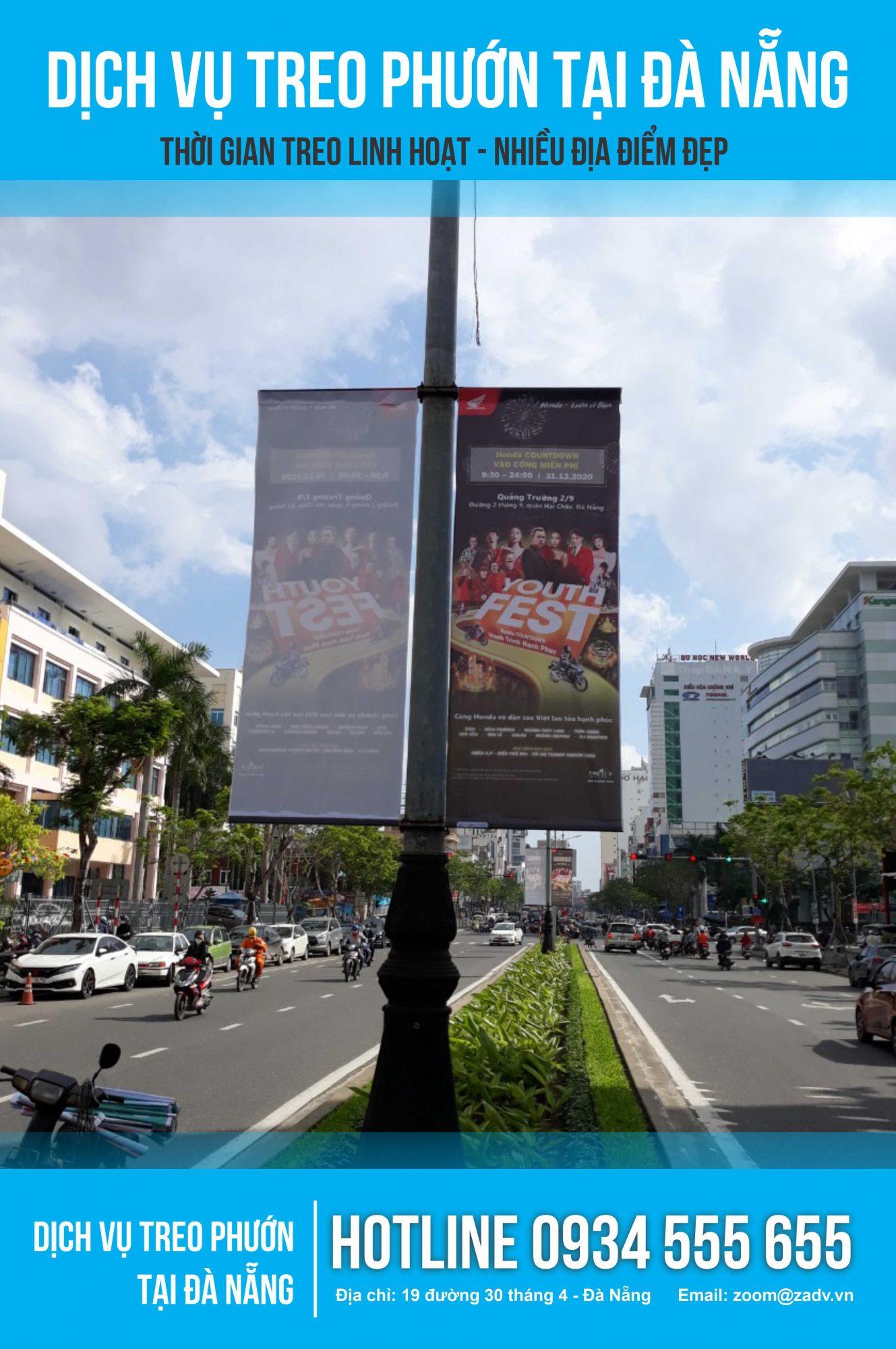 Treo phướn quảng cáo ở Đà Nẵng