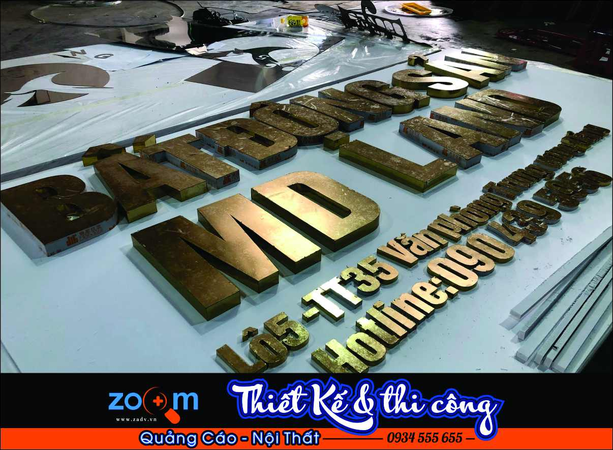 Làm chữ inox rẻ đẹp tại Đa Nẵng