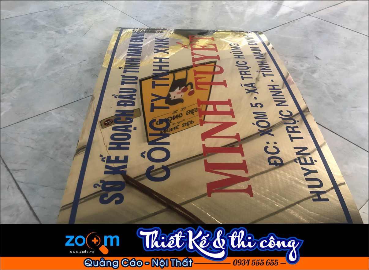 Làm biển inox công ty giá rẻ tại Đà Nẵng